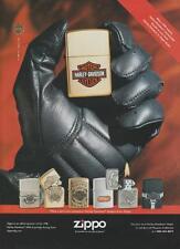 Zippo Harley Davidson Motorcycle Lighter Designs Collection Vintage Ad 1998 Rare