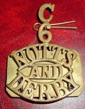 SHOULDER TITLES-1908-1920 CADET COMPANIES 6th T.A BATTALION NOTTS & DERBY