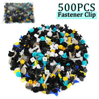 500Pcs Mixed Auto Car Fastener Clips Plastic Rivet Bumper Fender Trim Door Panel