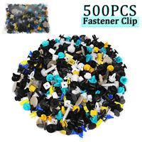 500Pcs Mixed Auto Car Fastener Clips Plastic Rivet Bumper Fender Trim Door Panel