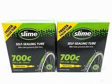 Slime Lot of 2 Self-Sealing Presta Valve Tubes 48mm 700c x 28mm-35mm