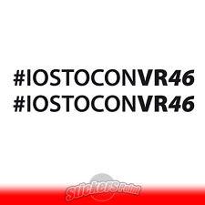 2 Adesivi #IOSTOCONVR46 VALE the doctor Valentino Rossi MotoGP stickers cm 20