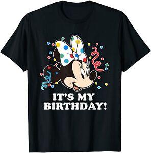 Disney Minnie Mouse Its My Birthday T-Shirt Cotton Tee