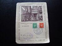 FRANCE - carte 1er jour 10/10/1943 (journee du timbre) (Z13) french