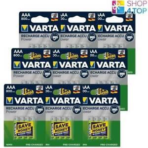 36 VARTA Recharge Battery Power AAA HR03 Batteries 1.2V 800mAh Nimh Micro New