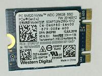 WDC 256GB SSD SDAPTUW-256G-1012 M.2  2230 PC SN520 NVMe SSD PCIe NVMe Gen3 x2