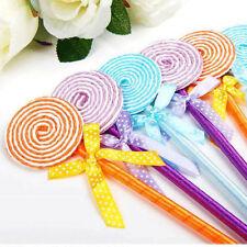 5PCS/set Flat Shape Lollipop Ball Point Pen Cute Stationery School Gift