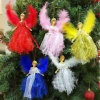 Christmas Feather Angel Doll Hanging Xmas Tree Pendants Ornaments Home Decor JP