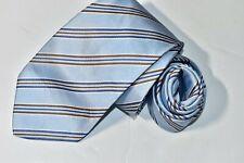 Men's Authentic Brioni Blue Silk Neck Tie made in Italy