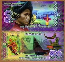 Equatorial Territories, Sumatra (Indonesia), 50 E Francs, POLYMER, 2015, UNC