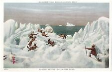 'Milwaukee Public Museum Miniature Group. Central Eskimo - Polar Bear Hunt.'
