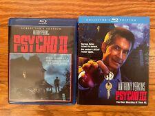Psycho Ii (2) and Psycho Iii (3) Blu-rays; Scream Factory; 3 comes with slip; Nm