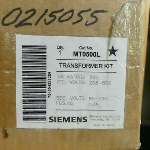 Siemens MT0500L 1Ph 500va .5kva Control Transformer - P: 230v 460v S: 115v 120v
