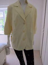NEW 'Wardrobe' Lovely Lemon Fully Lined Jacket Size 24