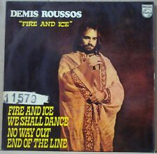 "DEMIS ROUSSOS 1972 Fire And Ice UNIQUE EDITION! Ex  P/S 7"" 45 EP BRAZIL"