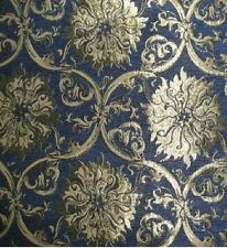 Tissu D'ameublement Baroque Antique Neuf Jaquard Chenille Webstoff Bleu