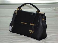 1a5562fd5454e6 NWT Michael Kors AVA Small Top Handle Satchel Black Saffiano Leather  30T5GAVS2L