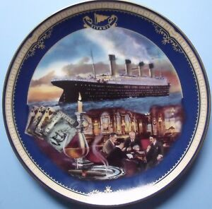 """Bradford Exchange Titanic Queen Of The Ocean """"The smoking room""""  limited ed."""