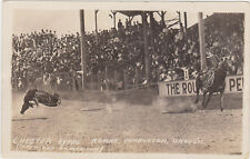 RPPC,Pendleton,OR.Pendleton Round-Up,Chester Byers Steer Roping,Doubleday,1920s