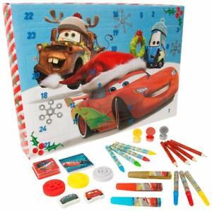 DISNEY CARS ADVENT CALENDAR Xmas Christmas Activity Fun Puzzles Stickers Stamps