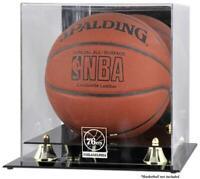 Philadelphia 76ers Golden Classic Team Logo Basketball Display Case - Fanatics