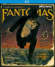 Fantomas (Blu-Ray 2 Discos Set,Kino jan-2016) FRANCES Silent CRIMEN EN SERIE
