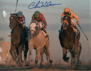 "Alphabet Soup 1996 Breeders' Cup Classic 8"" x 10"" Photo Signed Chris McCarron"