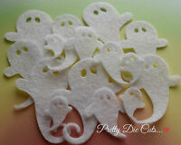 Felt Ghosts (12), Halloween Die Cut Craft Embellishments