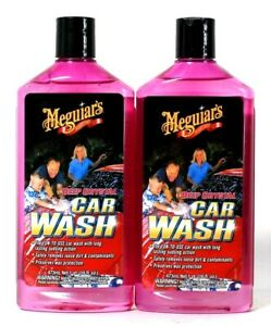 2 Bottles Meguiar's 16 Oz  Deep Crystal Car Wash Fun To Use Sudsing Action