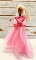 "MATTEL BARBIE Doll Pink Jacket Skirt Dress 12"" Tall  Long Blonde Hair Blue Eyes"