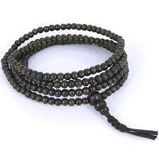 Mala Bracelet/Necklace 4mm Vietnam Agarwood Prayer/Meditation 216 Beads 土沉香