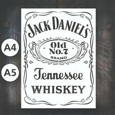 Jack Daniels Stencil - A5 Reusable Mylar