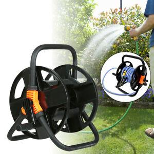 Garden Water Hose Pipe Reel Holder Hose Storage Cart Pipe Carrier Free Standing
