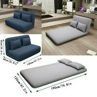 Sofa Futon Bed Sleeper Couch Convertible Adjustable Recliner Living Room+Pillow