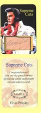 ELVIS PRESLEY / AUTOGRAPH SAMPLE CARD & NOVELTY BILL