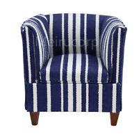 1/12 scale Dollhouse miniature furniture  blue stripes armchair Meeting room