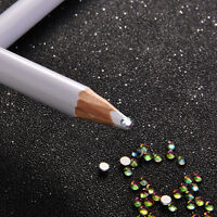 2x Rhinestone Flatback Pickup Picker Pencil Nail Art Gems Crystals Diamonds Pen