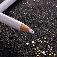 2x Rhinestone Flatback Pickup Picker Pencil Nail Art Gems Crystals Diamonds Pen