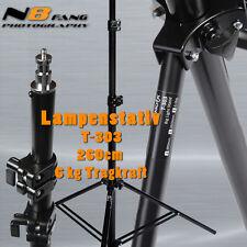 Lampenstativ Lightstand T303 Stativ mit Tasche für Blitze und Lampen 260cm