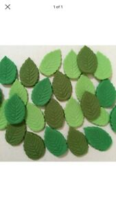 Edible Rose Leaves Mix Green   X 20