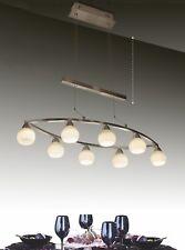 Modern Contemporary Dining room Island 8 Light Pendant White Glass Chandelier