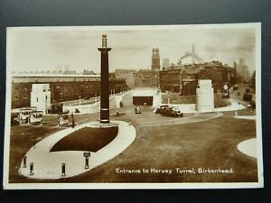 Birkenhead ENTRANCE TO THE MERSEY TUNNEL c1935 RP Postcard by Valentine G2977