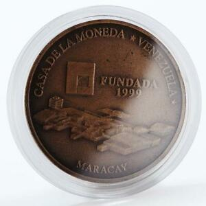 Venezuela 3000 bolivares Mint house complex bank bronze coin 1999