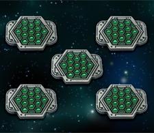 Star Wars: X-Wing Miniature Games Metal Empire Shield Tokens -- Broken Egg Games