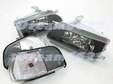 Headlights Headlamps for D#G Toyota Corolla AE92 FX GT E90 EE90 sedan 89-92 BK