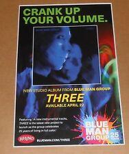 Blue Man Group Crank Up Your Volume Poster Original 2016 Promo 11x17