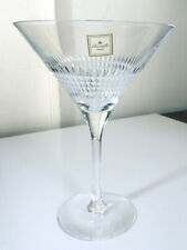 Christofle Crystal FACETTES Martini Glass(s), New with Stickers, Rare!