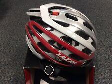 lazer z1 helmet, new, small 52-56cm, red/white/silver, Bag & aeroshell inc