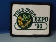 FIELD CROP EXPO 1990 HAT PATCH VINTAGE AGRICULTURE CORN FARM ADVERTISING BADGE