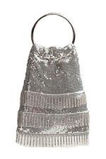 Evening Bag for Women Silver Mesh Soft Mesh Handbag